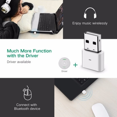 UGREEN USB Bluetooth 4.0 Adapter - White (30723)
