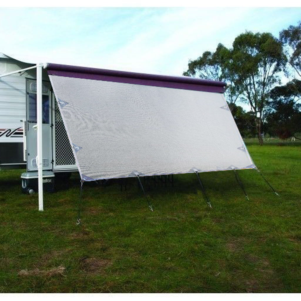 4.0m Caravan Privacy Screen Side Sunscreen Sun Shade for 14' Roll Out Awning