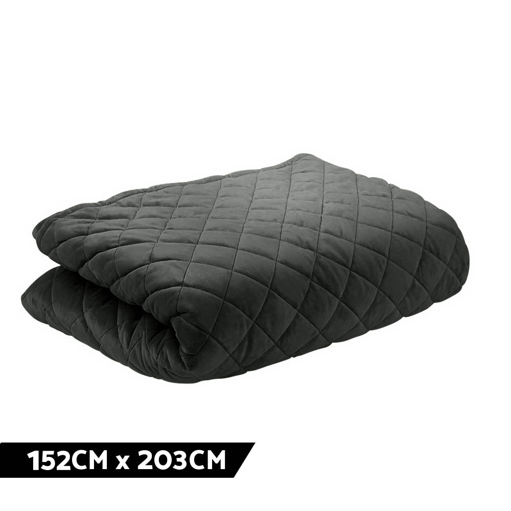 Giselle Bedding Microfibre Weighted Blanket Zipper Duvet Cover Adult 152x203cm Black