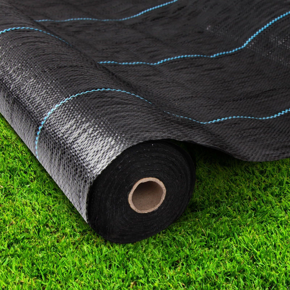 Instahut 1.83m X 100m Weedmat Weed Control Mat Woven Fabric Gardening Plant PE