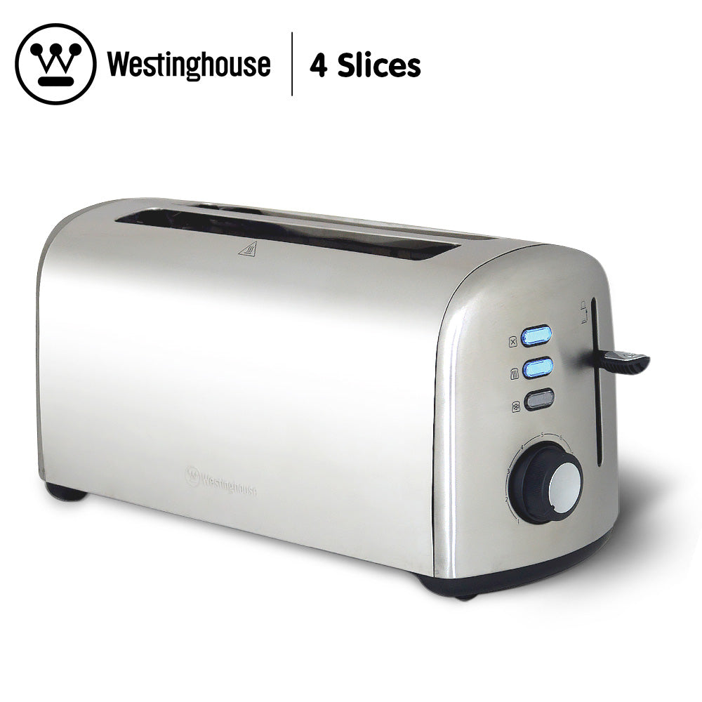 Westinghouse 4 Slice Toaster - Stainless Steel