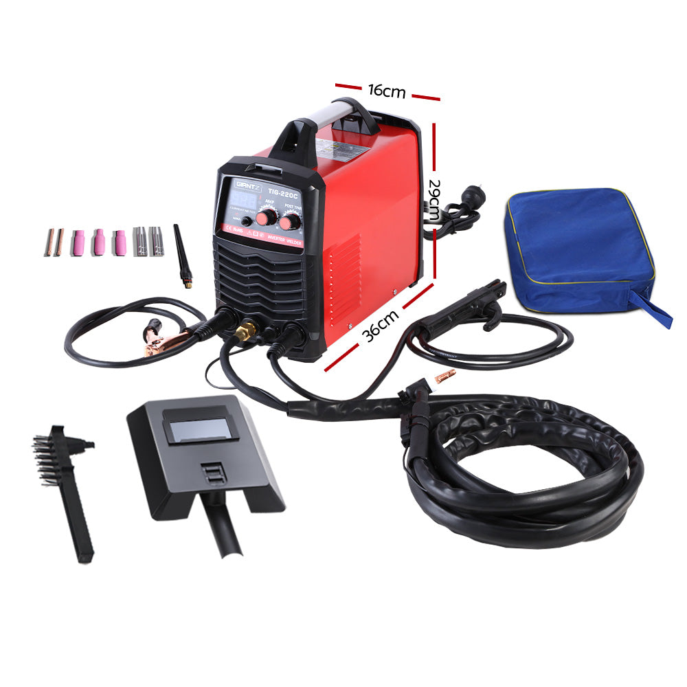 GIANTZ TIG Inverter Welder Portable MMA ARC Stick DC Gas Welding Machine 220Amp