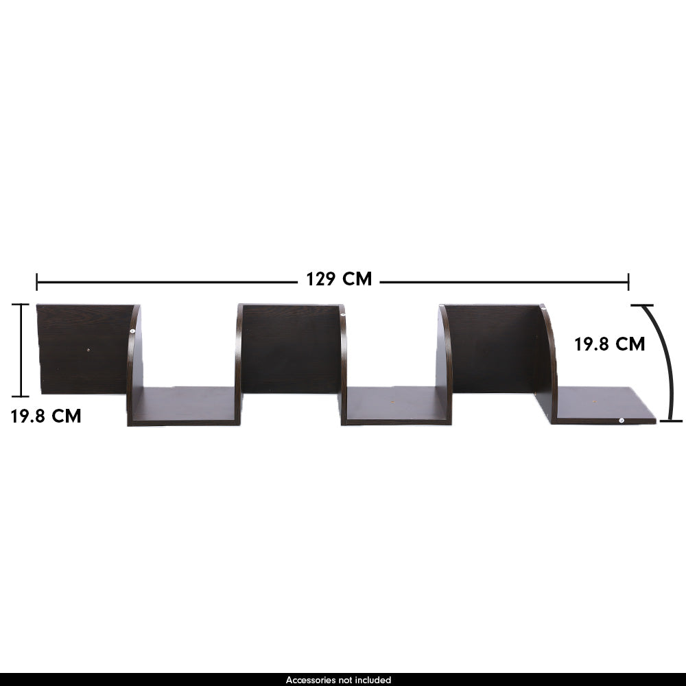 5-Tier Corner Wall Shelf Display Storage Shelves - Dark Brown