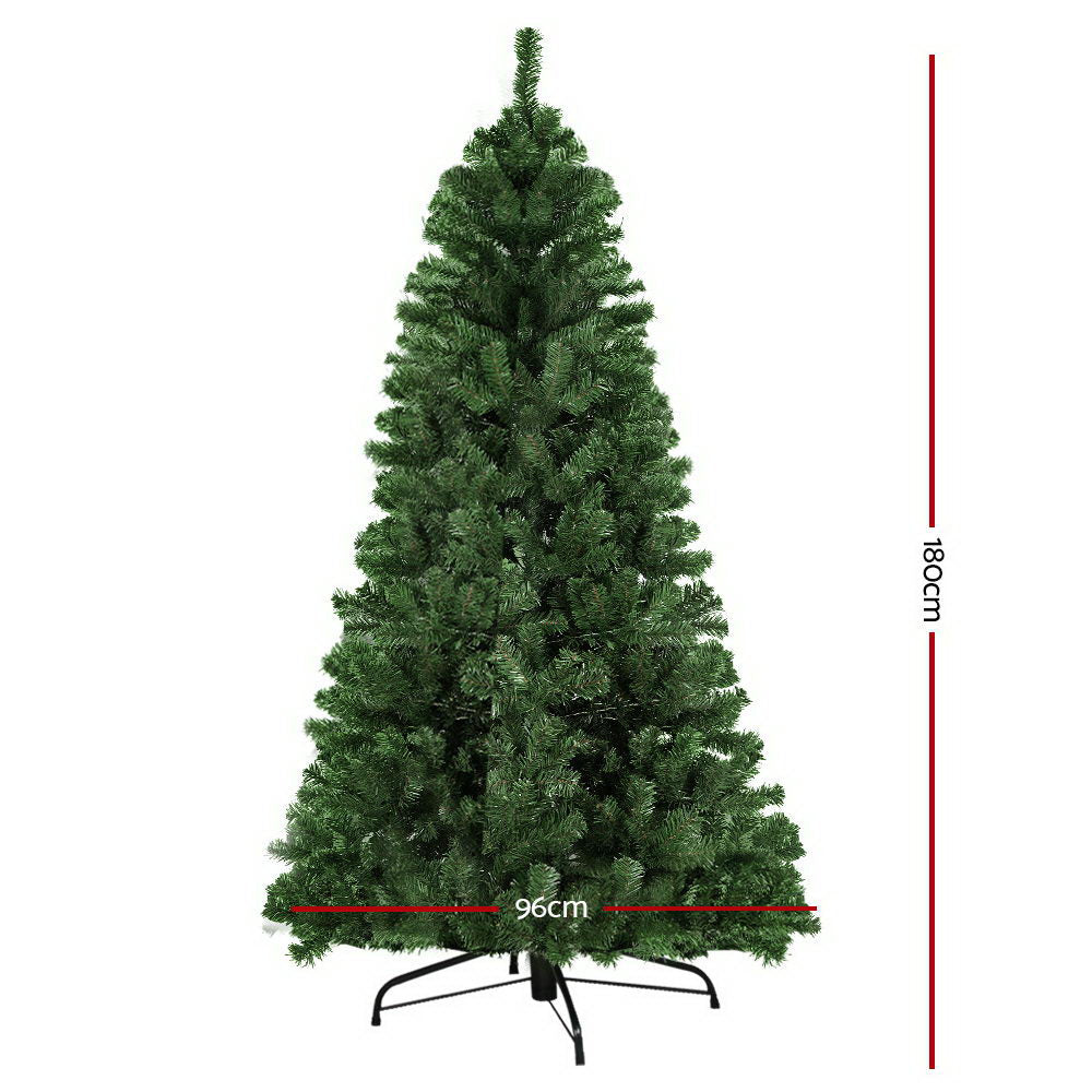 Jingle Jollys 1.8M 6FT Christmas Tree Xmas Decoration Home Decor 500 Tips Green