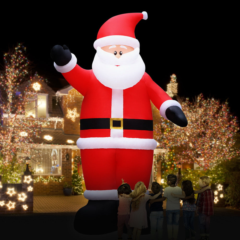 Jingle Jollys 5M Christmas Inflatable Santa Decorations Outdoor Air-Power Light