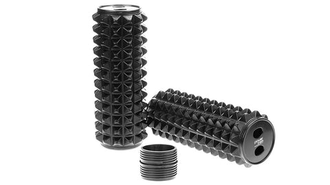 Powertrain 64cm Acupressure Grid Foam Massage Roller - Black