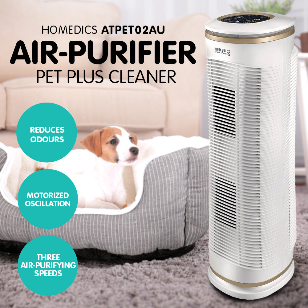 Homedics ATPET02AU Air Purifier Pet Plus Cleaner HEPA Filter