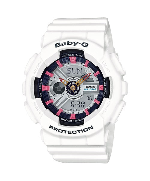Casio Baby-G Analogue/Digital Female White Watch BA110SN-7A