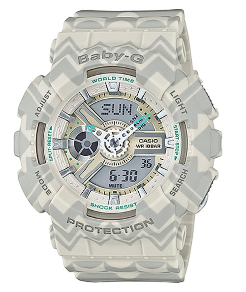 Casio Baby-G Cream Tribal Pattern Limited Edition Watch BA110TP-8A