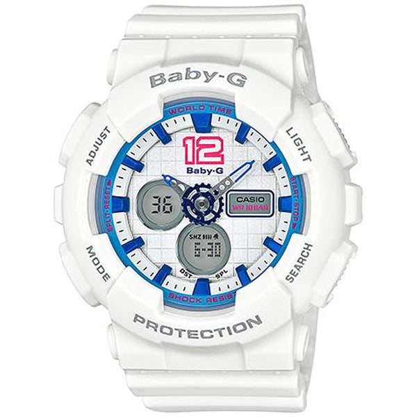 Casio Baby-G 3D Series Analogue/Digital White/Blue Female Watch