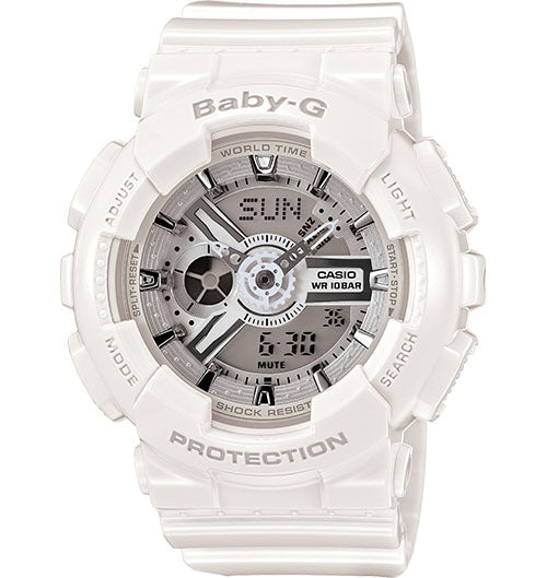 Casio Baby-G Analogue/Digital Female White Watch BA-110-7A3