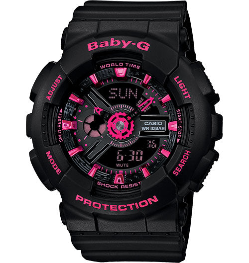 Casio Baby-G Analogue/Digital Female Black Watch BA111-1ADR...