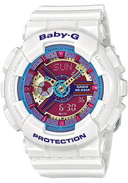 Casio Baby-G Analogue/Digital Female White Watch BA-112-7ADR