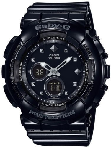 Casio Baby-G Ladies Black Analogue/Digital Watch BA-125-1ACR