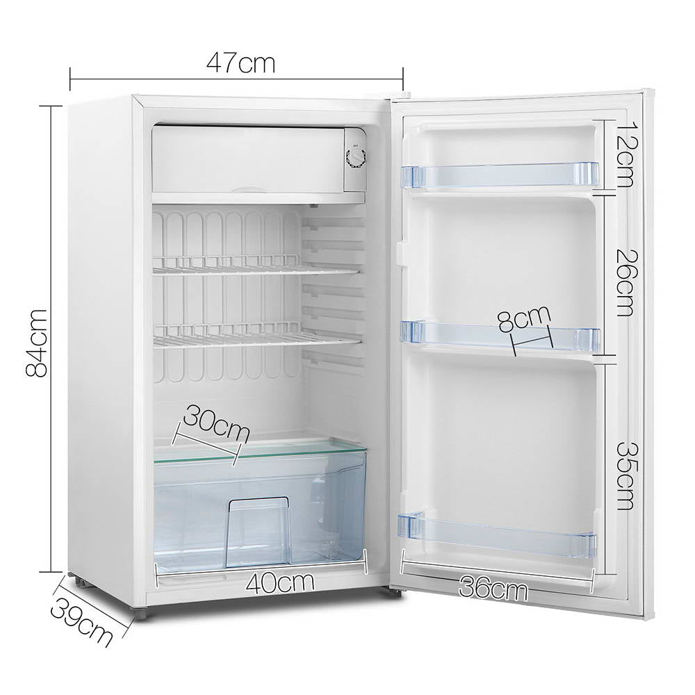 Devanti  95L Portable Bar Fridge - White