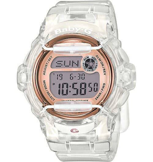 Casio Baby-G Female Transparent Digital Watch BG-169G-7BDR