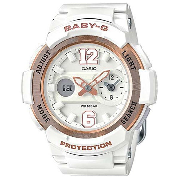 Casio Baby-G Analogue/Digital White/Gold Female Watch BGA210-7B3 - Store Zone-Online Shopping Store Melbourne Australia
