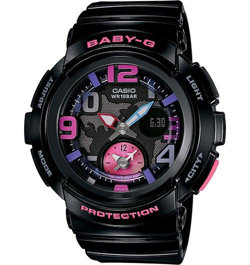 Casio Baby-G Analogue/Digital Female Black/Pink Watch BGA190-1B - Store Zone-Online Shopping Store Melbourne Australia
