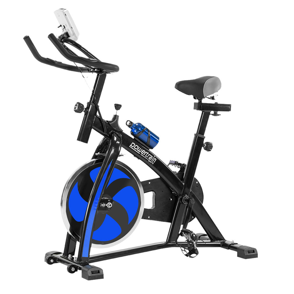 Powertrain Flywheel Exercise Spin Bike Home Gym Cardio - Blue