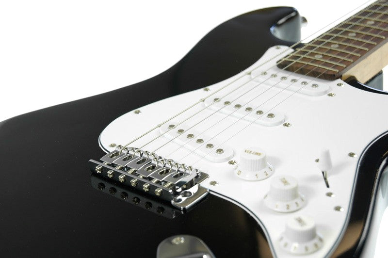 Karrera 39in Electric Guitar - Black