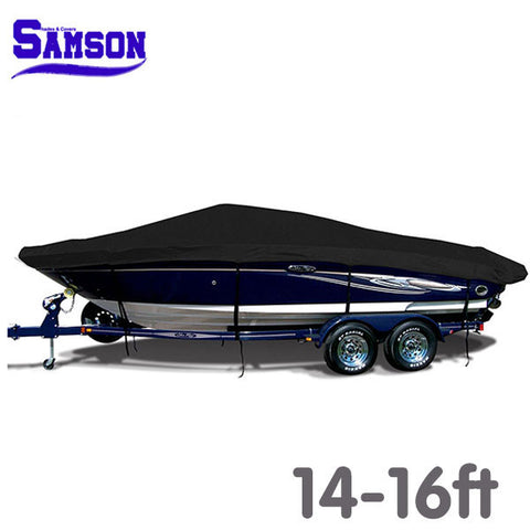 Samson 600d Solution Dyed Marine Grade Trailerable Boat Cover 14-16ft