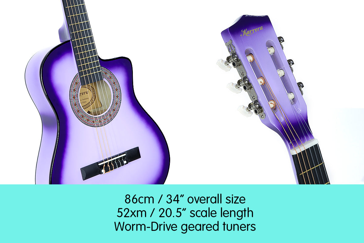 Childrens Acoustic Guitar Kids - Purple