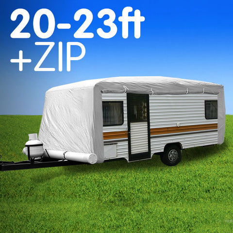 Caravan Cover with zip 20-23 ft