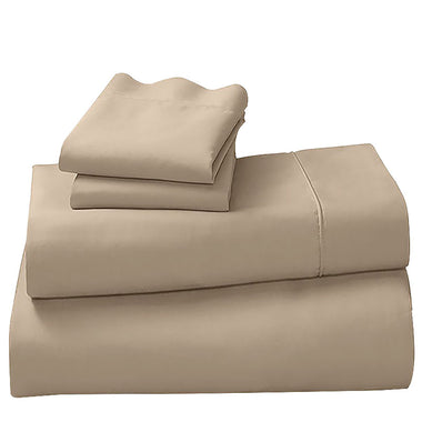 Linen Cotton microfibre 1000TC 4pc Queen sheet set