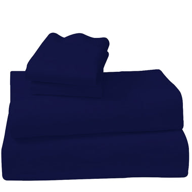 Navy Cotton microfibre 1000TC 4pc Queen sheet set