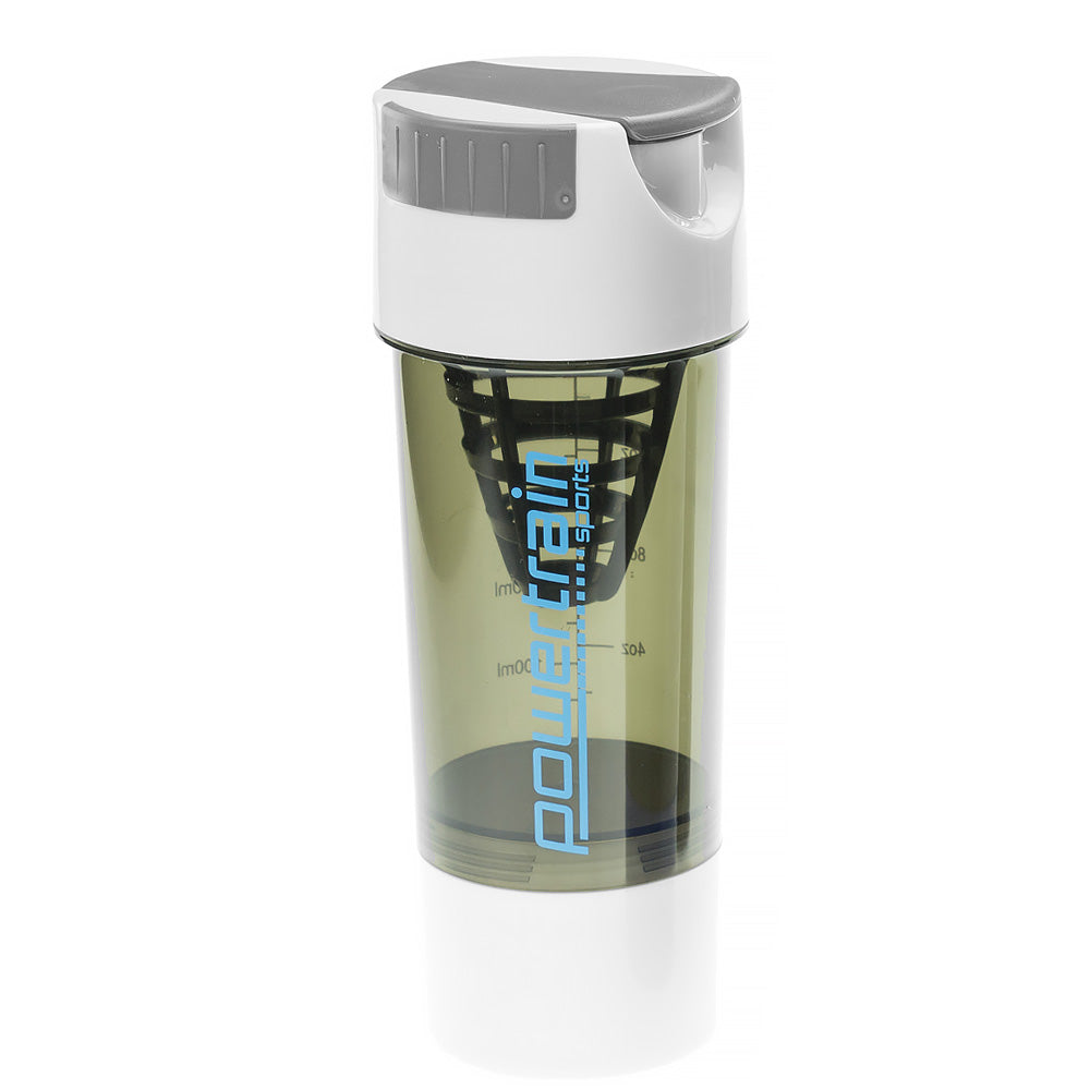 Powertrain Cyclone Protein Shaker Water Bottle - White