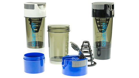 Powertrain Cyclone Protein Shaker Water Bottle - Blue