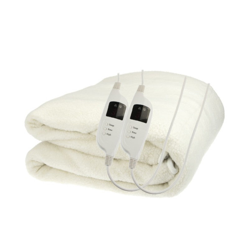 Fleece 9 Level Heated Settings Electric Blanket - King