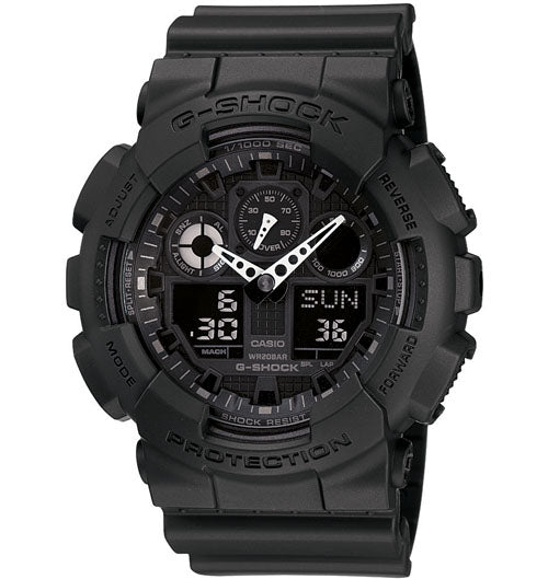 Casio G-Shock Analogue/Digital Mens Black Watch GA100-1A1 GA-100-1A1DR - Store Zone-Online Shopping Store Melbourne Australia