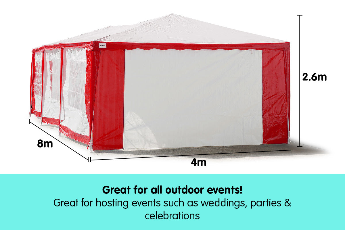 4x8 Outdoor Event Wedding Marquee Tent Red+White