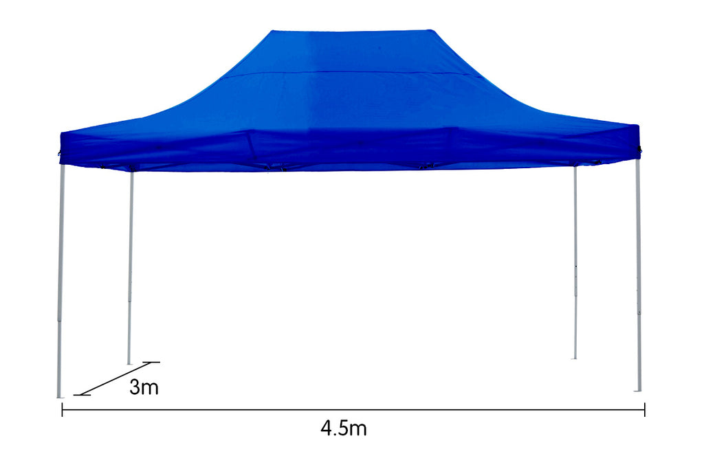 Gazebo Tent Marquee 3x4.5m PopUp Outdoor Wallaroo Blue