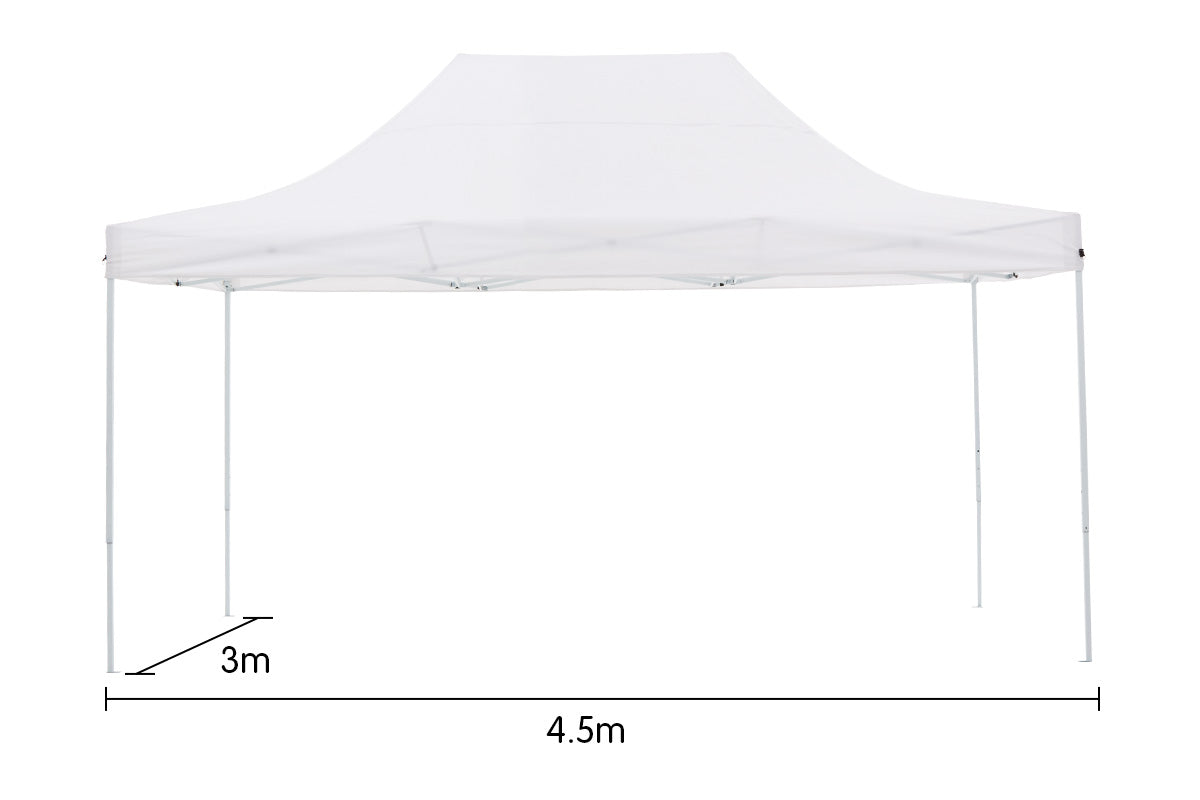 Gazebo Tent Marquee 3x4.5m PopUp Outdoor Wallaroo White