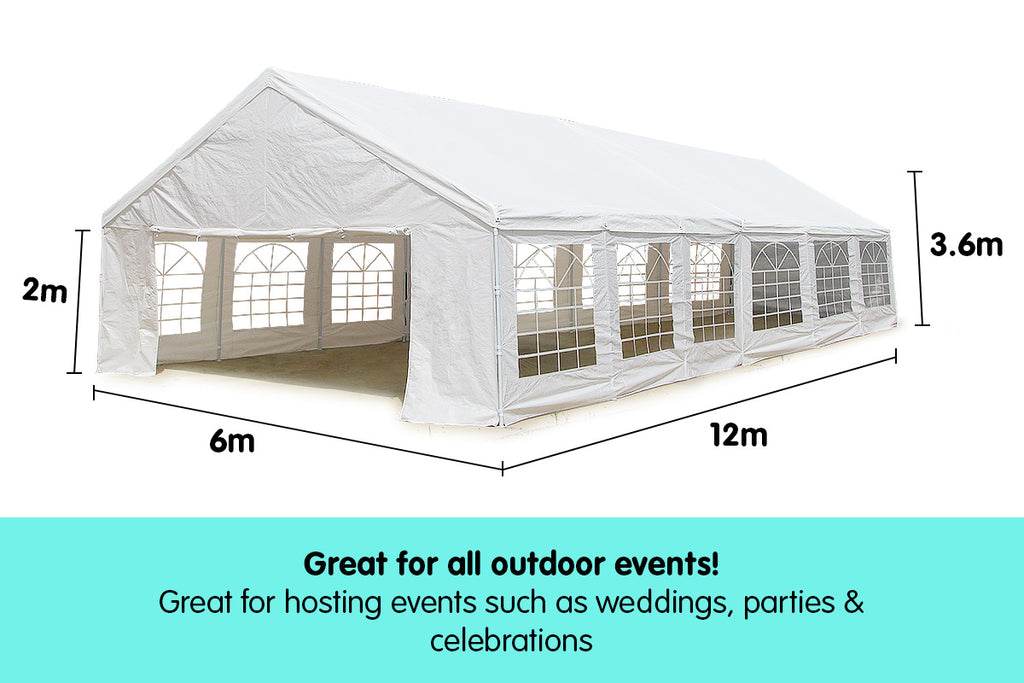 12 x 6m Outdoor Event Wedding Marquee