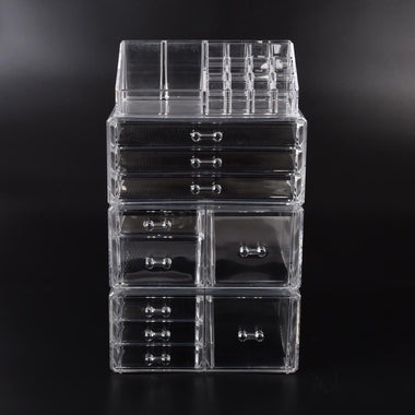 Buy 9 Drawer Clear Acrylic Cosmetic Makeup Organizer Jewellery Storage Box-Store Zone-Online Shopping Store Melbourne Australia