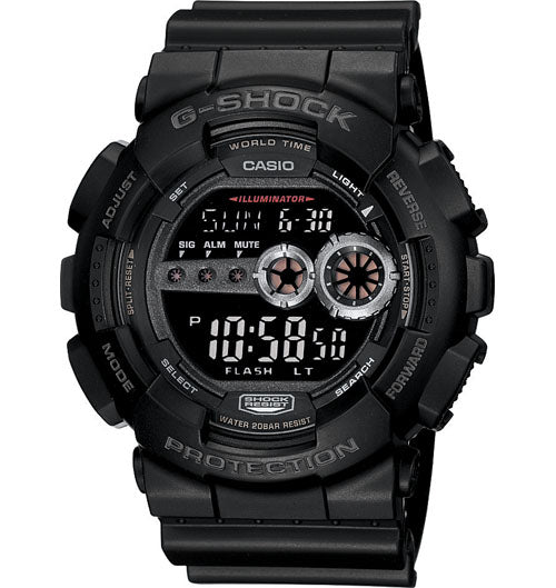 Casio G-Shock Digital Mens Black Watch GD100-1B GD-100-1BDR - Store Zone-Online Shopping Store Melbourne Australia