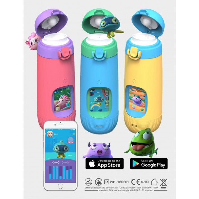 GULULU TALK THE INTERACTIVE SMART WATER BOTTLE & HEALTH TRACKER FOR KIDS PINK