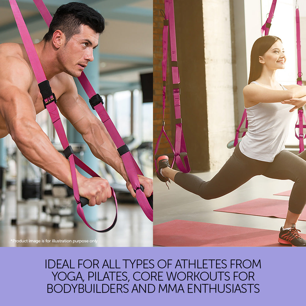 Suspension Exercise Training Straps - Pink