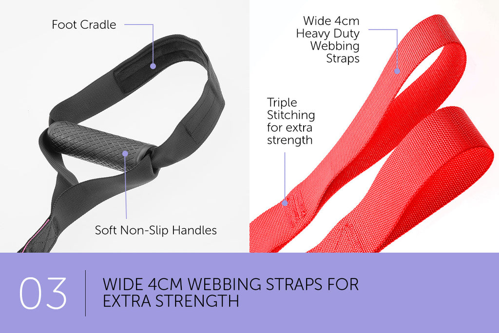 Suspension Exercise Training Straps - Red