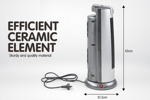 Pronti Electric Ceramic Tower Heater Silver