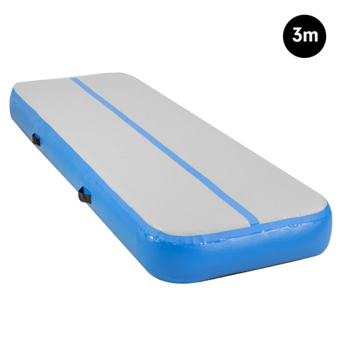 3m Airtrack Tumbling Mat Gymnastics Exercise 20cm Air Track - Blue