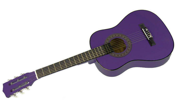 Karrera 34in Acoustic Children no cut Guitar - Purple