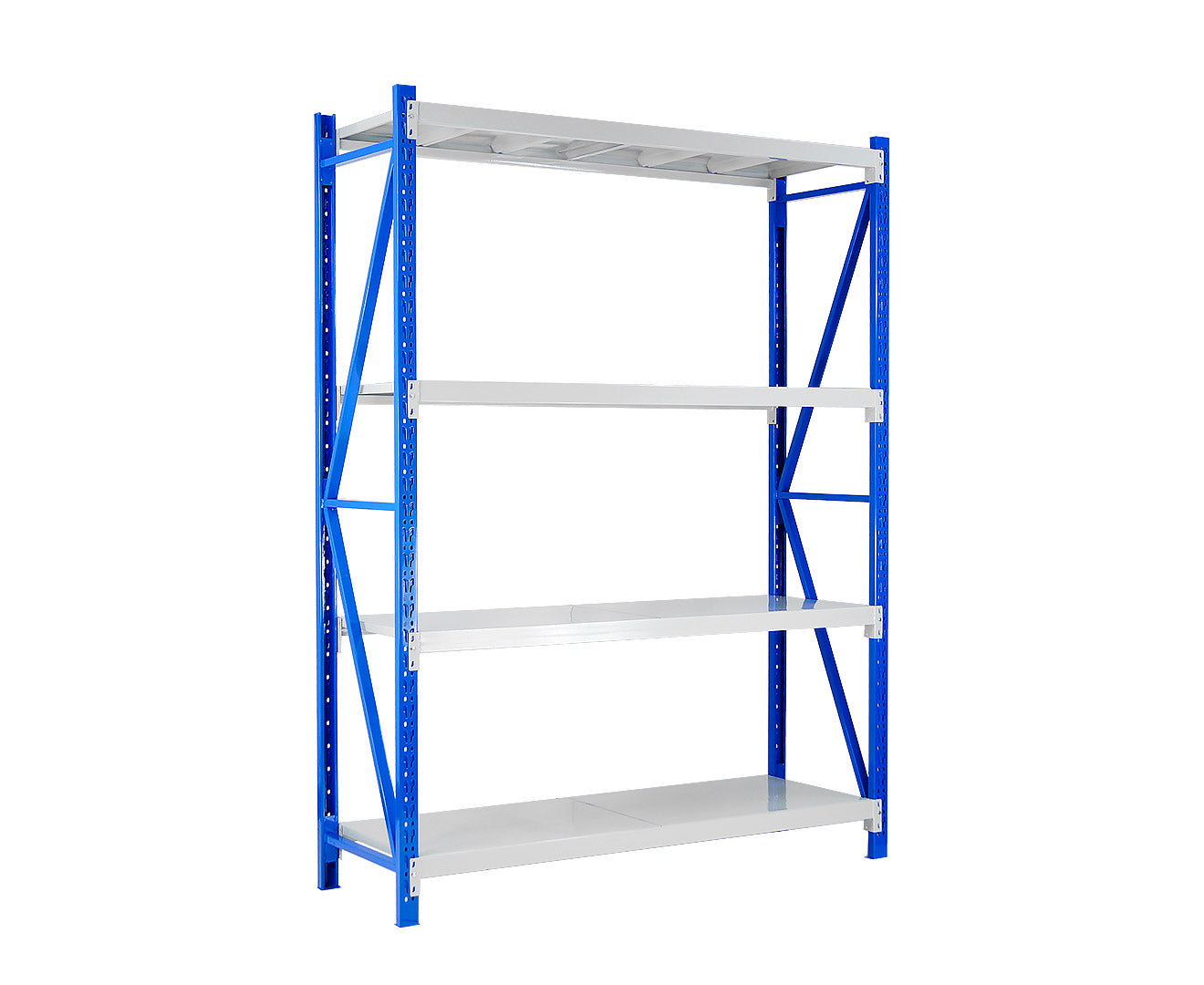 1 Bay Garage Storage Steel Rack Long Span Shelving 2.0m-wide 800kg