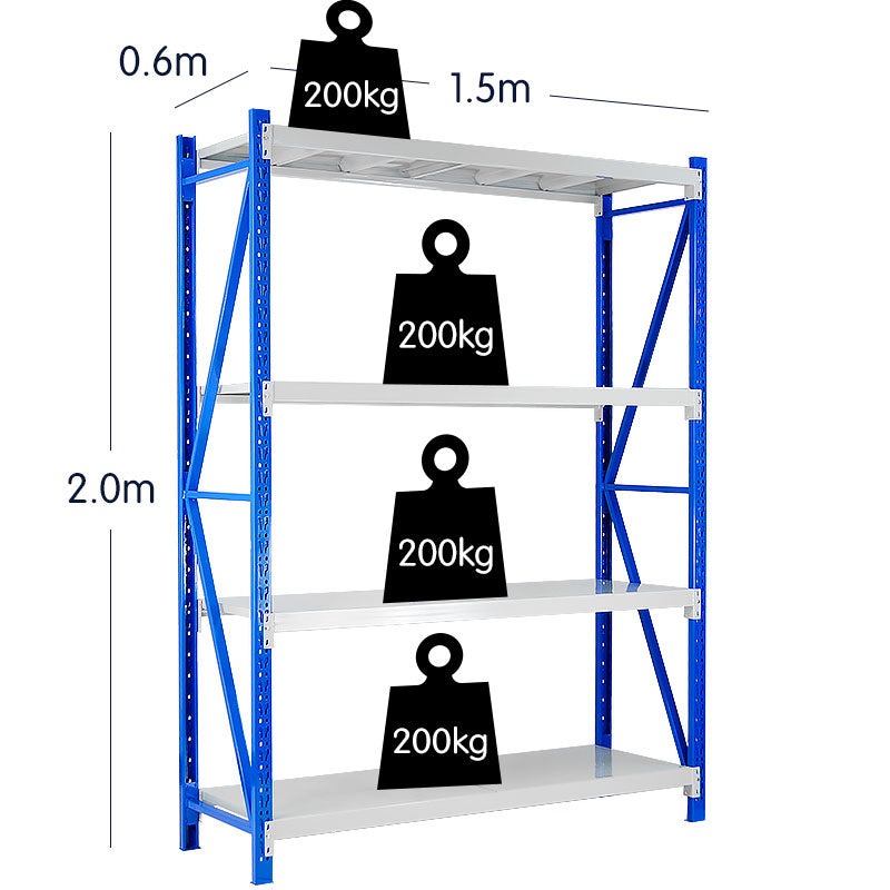1 Bay Garage Storage Steel Rack Shelving 1.5m 800kg