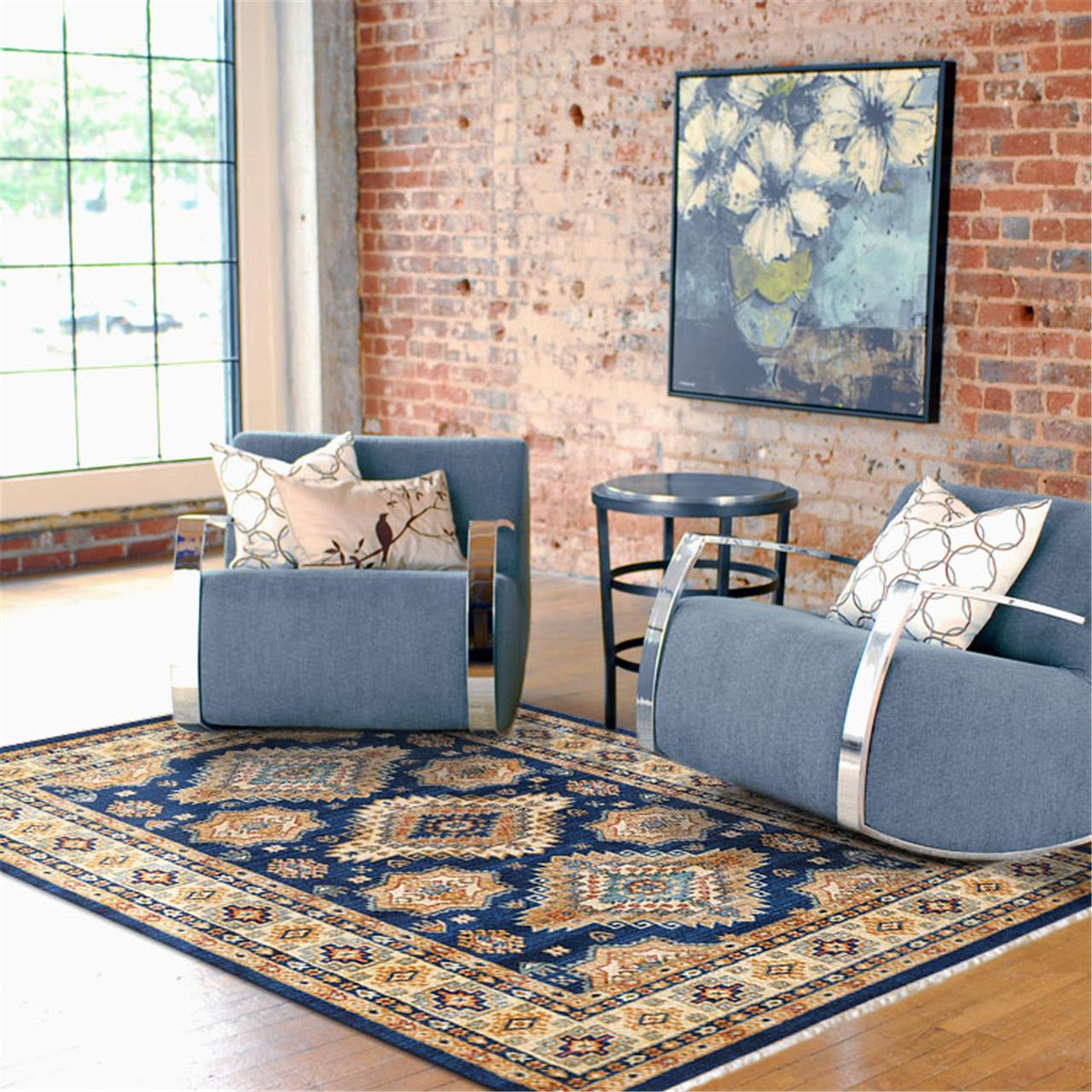 UNIQUE DESIGN NAVY BLUE RUG - Store Zone-Online Shopping Store Melbourne Australia