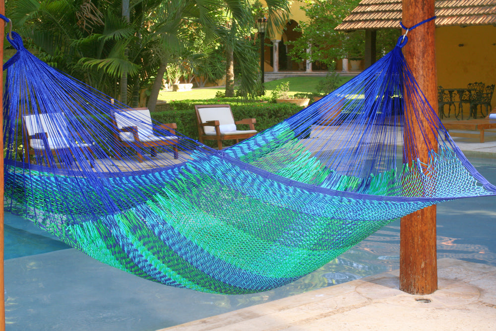 Jumbo Size Outdoor Cotton Hammock in Caribe