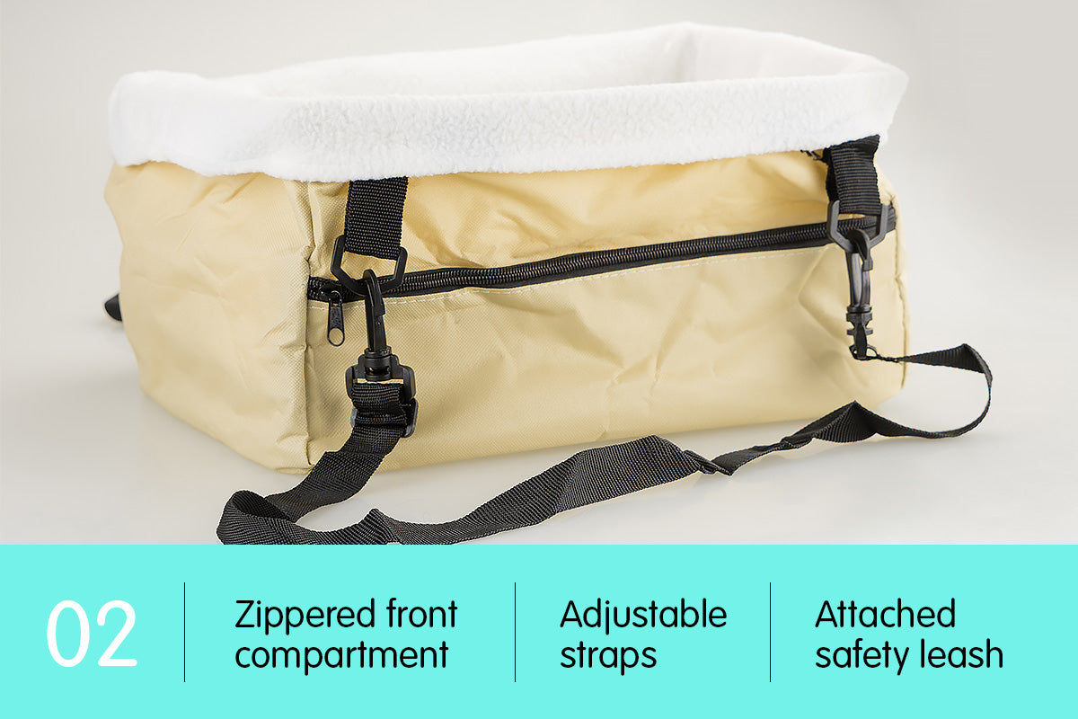 Pet Travel Carrier Bag - Beige